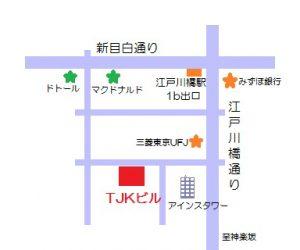 TJKビル界隈の地図